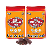 2 Pack of 24 tabs Survival tablets emergency food supply chocolate exp 25 years