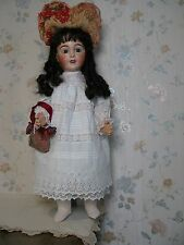 "28"" FRENCH LIMOGES BISQUE HEAD ANTIQUE DOLL CIRCA 1910"