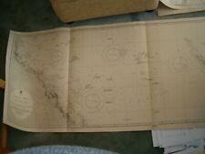 Antique Admiralty Chart 2763 AUSTRALIA - CORAL SEA & GT BARRIER REEFS 1914 edn