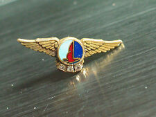 Vintage Eastern Airlines Wings Years of Service Pin 3 Diamond 10K Gold EAL