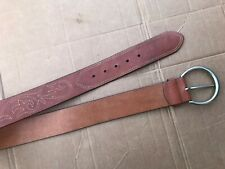Women's OLGA SANTINI Brown GENUINE Leather Belt Size L