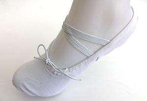 White Canvas Ballet Gymnastic Yoga Shoes Split Sole