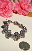 Vintage Art's Elegance AE 14k Gold 925 Sterling Silver Elegant Filigree Bracelet