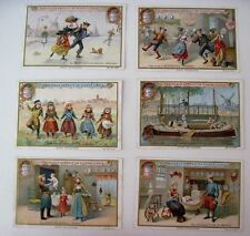 1901 Victorian Trade Card Set - Liebig's Fleisch-Extract - Dutch Scenes *