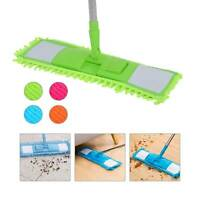 Microfibre Flat Floor Mop Cleaner Sweeper Cleaning Wooden Laminate Tile Wet Dry