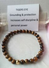 Tiger eye 6mm Gemstone Elasticated Bracelet - Crystal Healing - Reiki