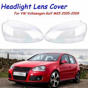 For VW Volkswagen Golf5 MK5 2005 2006-2009 Front Lens Cover Kit Headlight Pair