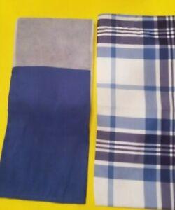 New Mainstays Twin Size Blue Bedskirt & Plaid Pillow Sham