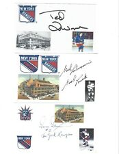 Ivan Irwin Signed / Autographed Index Card New York Rangers