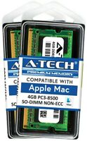 8GB 2x 4GB PC3-8500 1066 1067 MHz for Apple MacBook Pro iMac Mac mini MEMORY RAM
