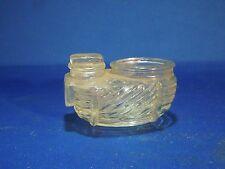 Vintage Glass Bird Feeder Food Holder for Bird Cage Egg Basket Shaped Marked 4