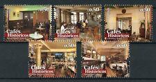 Portugal 2017 MNH Historic Cafes Part II 5v Set Architecture Design Stamps