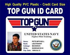 TOP GUN ID CARD / BADGE PROP (Pete Mitchell) MAVERICKS ID  US NAVY Fighter Pilot