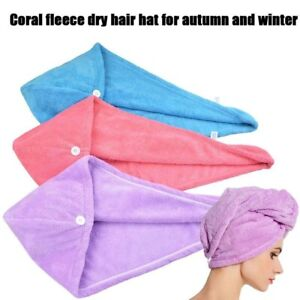 Microfiber Hair Wrap Drying Bath Spa Head Cap Turban Wrap Shower Women Towel USA