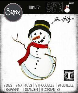 Sizzix Thinlits Mr. Frost 9pc set #665581 Retail $14.99 designer Tim Holtz
