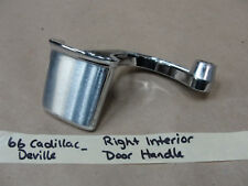 1966 Cadillac 66 Deville RIGHT PASS SIDE INTERIOR CHROME DOOR HANDLE #4537107