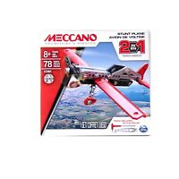 MECCANO STUNT PLANE 2 IN 1 MODEL BUILDING KIT STEM EDUCATION TOY 78 PIECES 17201