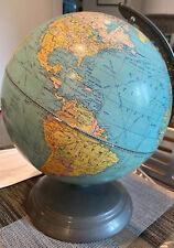 """Terrestrial World Globe Weber Costello 10"""""""