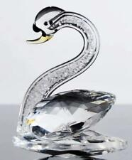 Optical Crystal Prism Lake Swan Figurine Tiny Facets In Neck Black Face