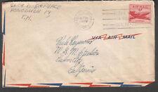 1950 cover & letter Honolulu HI Aloha Week slogan cancel to Metro Goldwyn Mayer