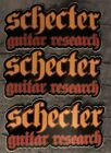 Schecter Guitar Research Stickers (3) 7