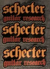 "Schecter Guitar Research Stickers (3) 7"" U Can Decorate Guitar & Bass Cases NEW"