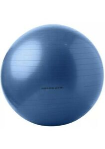 Gold's Gym 65cm Anti-Burst Exercise Body Ball, Blue, BALL ONLY, NO BOX OR PUMP