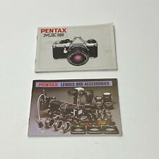 Pentax Super Me Camera Manual and Pentax Lenses and Accessory book.