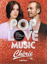 PUBLICITE ADVERTISING 015  2014  CHERIE FM radio  CALOGERO & LANA DEL REY POP LO