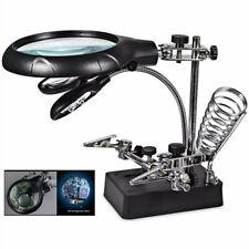 10X Magnifier Desk Lamp Repair Clamp Desktop Magnifying Glasses with 5 LED Light