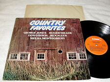"""Country Favorites"" 1976 Country LP, Nice NM-!, Various Artists, Buckboard"
