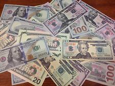 30 Pieces of Fake Prop Play Money Practice Movie Joke