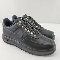 Nike Duckboot Low Lunar Force 1 Mens 8 Black Shoes Sneakers AA1125 001 NEW