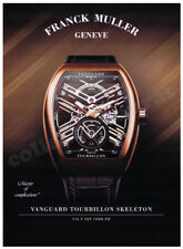 FRANCK MULLER Vanguard Tourbillon mens watch advertisement A4 size HQ print