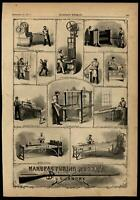 Weaponry manufacturing muskets armory guns rifles 1861 Harper's Civil War Print