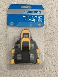 SHIMANO YELLOW SM-SH11 SPD-SL FLOAT ROAD BIKE SELF LOCKING CYCLING PEDALS CLEATS