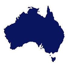 Australia forma Auto Finestrino Paraurti Muro in Vinile Decalcomania Adesivo souvenir BLU NOTTE