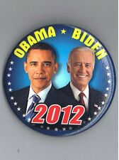 "Barack Obama Joe Biden 2012 Jugate 2.25"" Political President Pinback Button NICE"