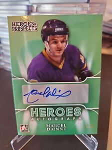 2015-16 Heroes and Prospects Hero Autograph Marcel Dionne Kings HOF 1/10!