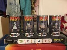 KISS Minimates Figures Set from 2002 -  in factory sealed plastic cylinders