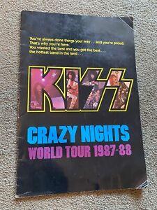 "KISS Concert Program Tour Book Crazy Nights 1987 1988 Huge Size 13"" X 19"""