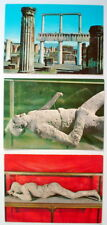 LOT OF 3 VINTAGE UNUSED POST CARDS, POMPEI, ITALY **** 3 CARTES POST. DE POMPÉI