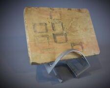 Lourde pierre lithographique d'imprimerie thème Architecturale cheminées - 19eme