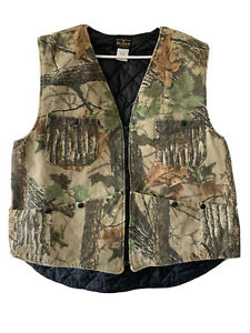 Vintage Deerskin Camo Hunting Vest USA Made XL Outdoors