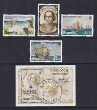 Anguilla 1992 Used FU Full Set Minisheet Christopher Columbus Discovery Americas