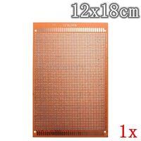 1x 12x18cm PCB Prototyping Printed Circuit Board Prototype Breadboard Stripboard