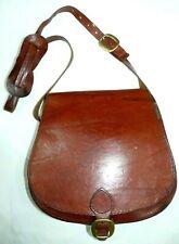 Real Vintage Genuine Tan Leather Large Saddle Bag Shoulder/ Cross Body