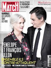 PARIS MATCH. N° 3533. fevrier 2017. PENELOPE ET FRANCOIS FILLON. BARRY JENKINS.
