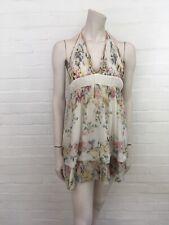 Roberto Cavalli Runaway Summer Floral  DRESS Size I 40 UK 8 US 4 S SMALL