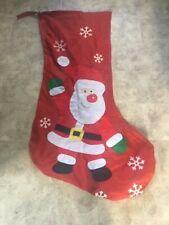Large Red Santa Farther Christmas Xmas Sack Stocking Gift Present Bag Drawstring